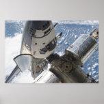 Space Shuttle Atlantis & ISS Poster