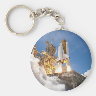 Space Shuttle Atlantis Launching STS-132 Mission Basic Round Button Keychain
