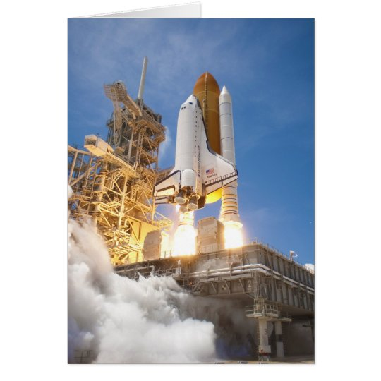 Space Shuttle Atlantis Launching STS-132 Mission Card