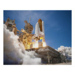 Space Shuttle Atlantis Launching STS-132 Mission Poster