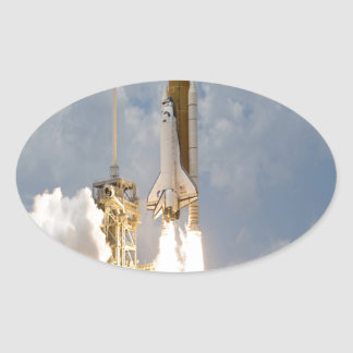 Space Shuttle Atlantis lift off move to success Oval Sticker
