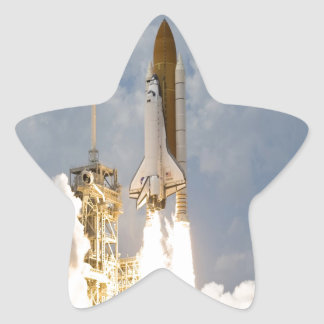 Space Shuttle Atlantis lift off move to success Star Sticker