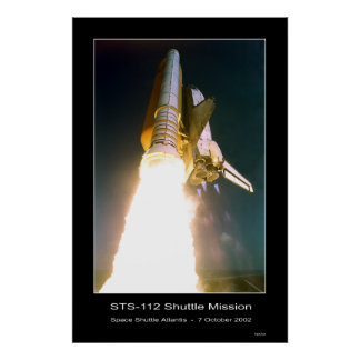 Space Shuttle Atlantis Lift-off - October 7, 2002 Poster