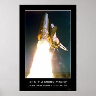 Space Shuttle Atlantis Lift-off - October 7, 2002 Poster