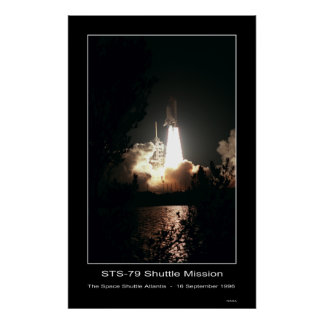 Space Shuttle Atlantis Lift-off – ... Poster