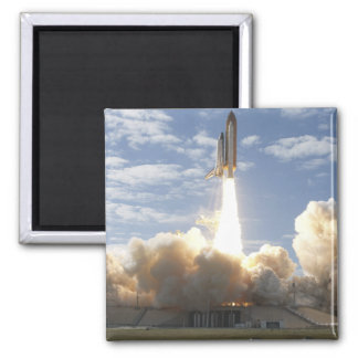 Space Shuttle Atlantis lifts off 10 2 Inch Square Magnet