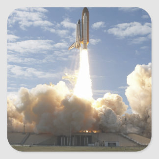 Space Shuttle Atlantis lifts off 10 Square Sticker