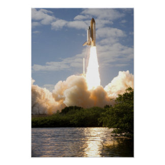 Space Shuttle Atlantis lifts off 11 Poster