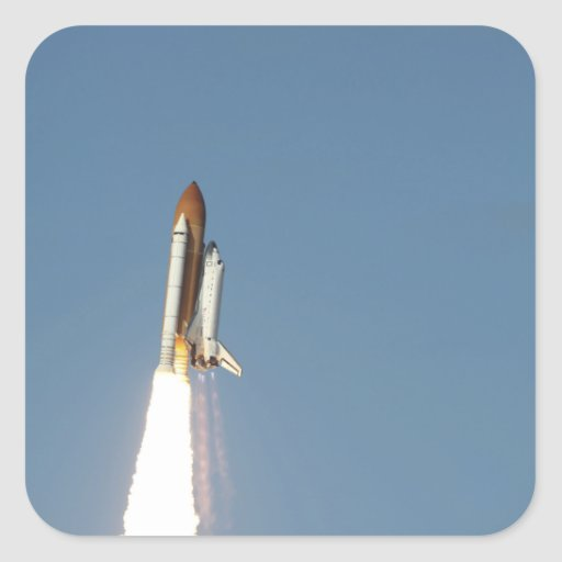Space Shuttle Atlantis lifts off 11 Square Sticker