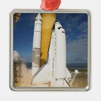 Space Shuttle Atlantis lifts off 12 Metal Ornament