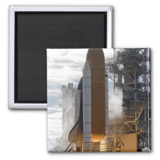 Space Shuttle Atlantis lifts off 15 2 Inch Square Magnet