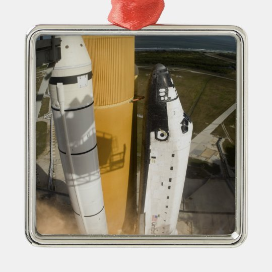 Space Shuttle Atlantis lifts off 17 Metal Ornament