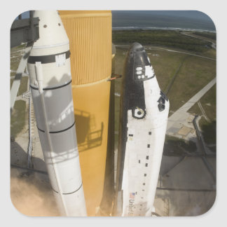 Space Shuttle Atlantis lifts off 17 Square Sticker