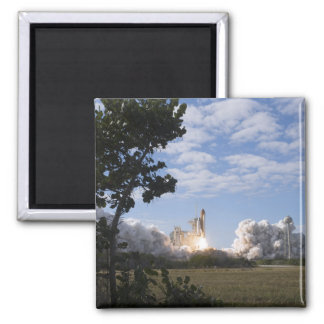 Space Shuttle Atlantis lifts off 18 2 Inch Square Magnet