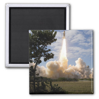 Space Shuttle Atlantis lifts off 19 2 Inch Square Magnet