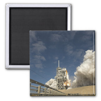 Space Shuttle Atlantis lifts off 20 2 Inch Square Magnet
