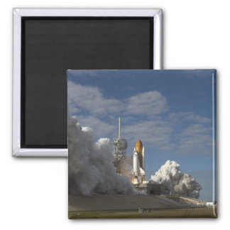 Space Shuttle Atlantis lifts off 23 2 Inch Square Magnet
