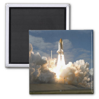 Space Shuttle Atlantis lifts off 24 2 Inch Square Magnet