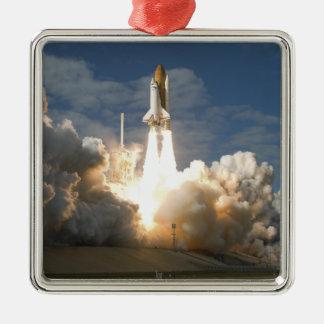 Space Shuttle Atlantis lifts off 24 Metal Ornament