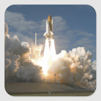 Space Shuttle Atlantis lifts off 24 Square Sticker