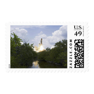 Space Shuttle Atlantis lifts off 25 Postage Stamp