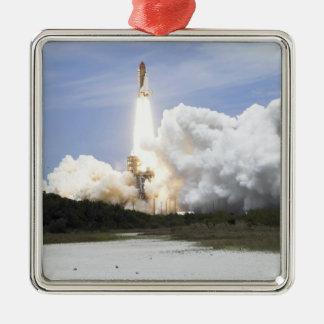 Space Shuttle Atlantis lifts off 28 Metal Ornament