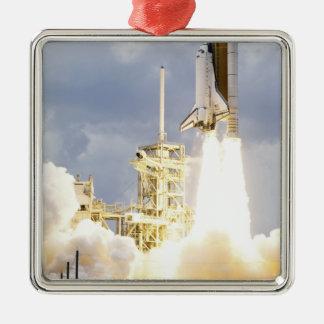 Space Shuttle Atlantis lifts off 2 Metal Ornament