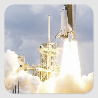 Space Shuttle Atlantis lifts off 2 Square Sticker