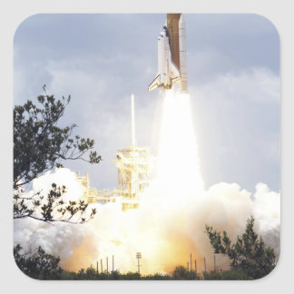 Space Shuttle Atlantis lifts off 4 Square Sticker