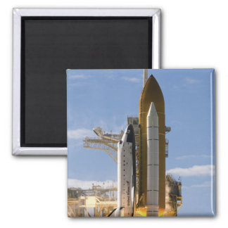 Space Shuttle Atlantis lifts off 5 2 Inch Square Magnet