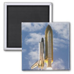 Space Shuttle Atlantis lifts off 6 2 Inch Square Magnet