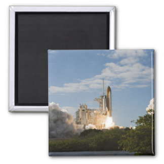Space Shuttle Atlantis lifts off 7 2 Inch Square Magnet
