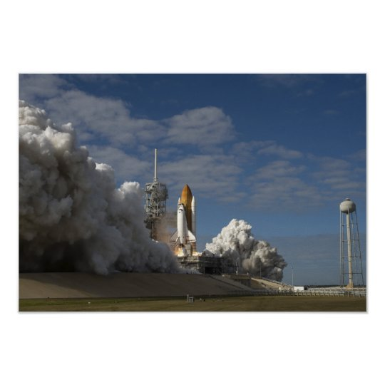 Space Shuttle Atlantis lifts off 7 Poster