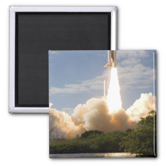 Space Shuttle Atlantis lifts off 8 2 Inch Square Magnet