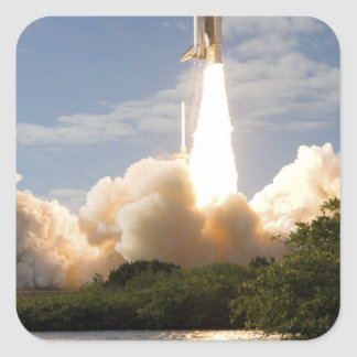 Space Shuttle Atlantis lifts off 8 Square Sticker