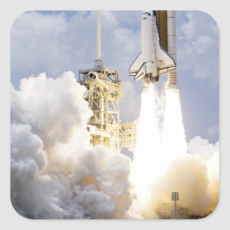 Space Shuttle Atlantis lifts off Square Sticker