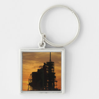 Space Shuttle Atlantis on the launch pad Keychain