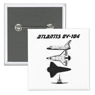Space Shuttle Atlantis OV-104 Pinback Button
