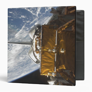 Space Shuttle Atlantis' payload bay backdropped 3 Ring Binder
