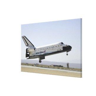 Space Shuttle Atlantis prepares for landing 2 Canvas Print
