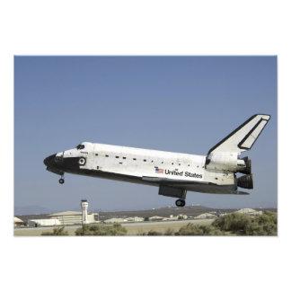 Space Shuttle Atlantis prepares for landing Photo Print