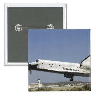 Space Shuttle Atlantis prepares for landing Pinback Button