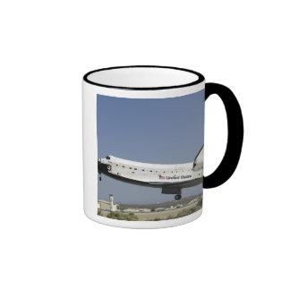 Space Shuttle Atlantis prepares for landing Ringer Mug
