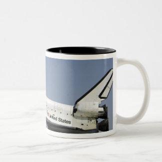 Space Shuttle Atlantis prepares for landing Two-Tone Coffee Mug