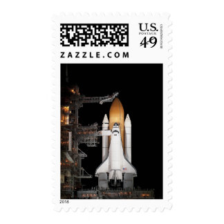 Space shuttle Atlantis sits ready Postage