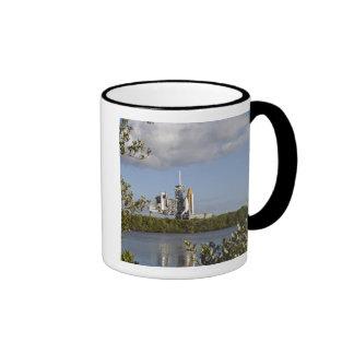 Space Shuttle Atlantis sits ready Ringer Mug