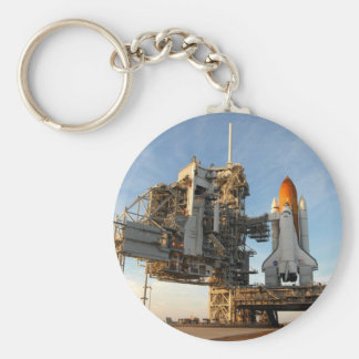 Space Shuttle Atlantis (STS-122) - launch pad Basic Round Button Keychain