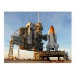 Space Shuttle Atlantis (STS-122) - launch pad Postcard