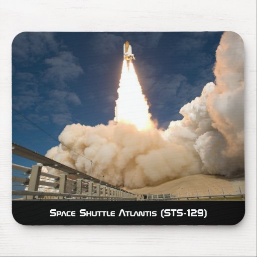 Space Shuttle Atlantis (STS-129) Blast's Off Mouse Pad