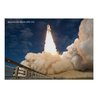Space Shuttle Atlantis (STS-129) Blast's Off Poster